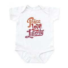 Peace Love Liberty Infant Bodysuit