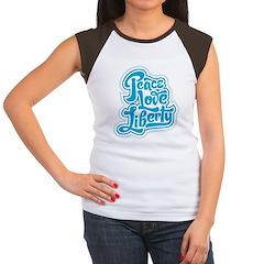 Peace Love Liberty Women's Cap Sleeve T-Shirt