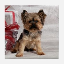 Yorkshire Terrier Holiday Tile Coaster