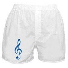 Blue Clef Boxer Shorts