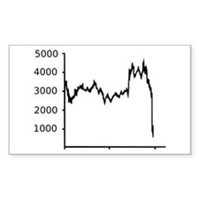Stock Market - Recession Rectangle Decal