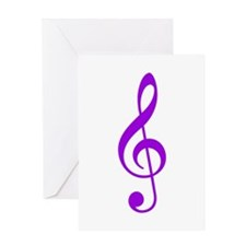 Purple Clef Greeting Card