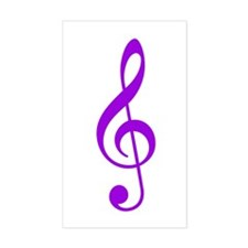 Purple Clef Rectangle Decal