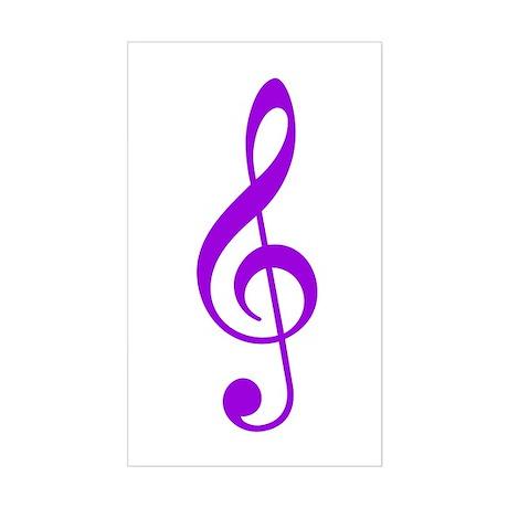 Purple Clef Rectangle Sticker