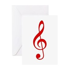 Red Clef Greeting Card
