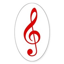 Red Clef Oval Decal