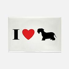 I Heart Cesky Terrier Rectangle Magnet