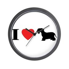 I Heart Cesky Terrier Wall Clock