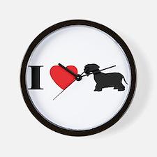 I Heart Cesky Terrier Wall Clock
