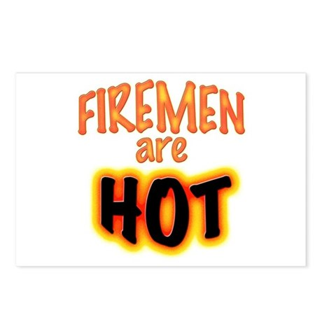 firemen are hot Postcards (Package of 8)