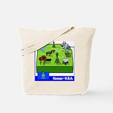 Kansas Map Tote Bag