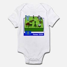 Kansas Map Infant Bodysuit
