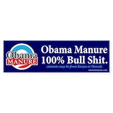 Obama Manure Bumper Bumper Sticker