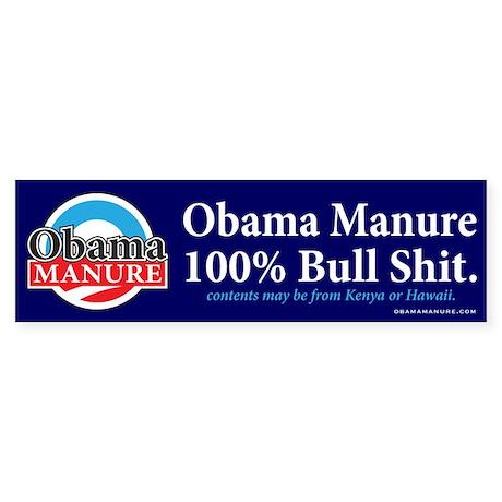 Obama Manure Bumper Sticker