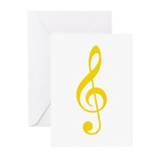 Yellow Clef Greeting Cards (Pk of 20)