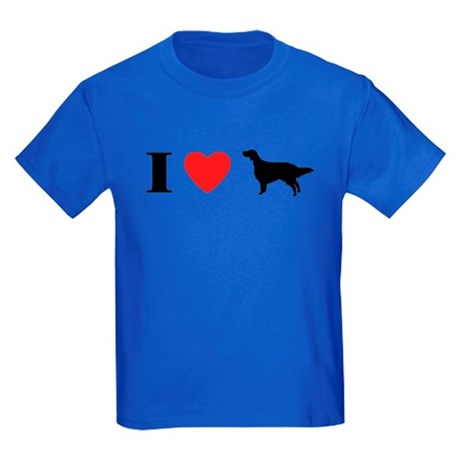 I Heart English Setter Kids Dark T-Shirt