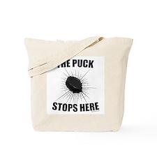 Puck Stops Tote Bag