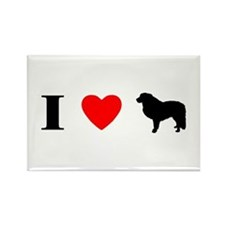 I Heart Great Pyrenees Rectangle Magnet