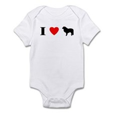 I Heart Great Pyrenees Infant Bodysuit