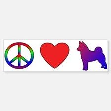 Peace Love Norwegian Elkhound Bumper Bumper Bumper Sticker