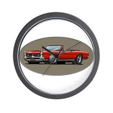 Red GTO convertible Wall Clock
