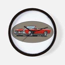 Red GTO convertible Wall Clock