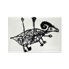 "GLYPH ""Horned Animal"" Rectangle Magnet"