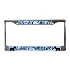 Crazy About Cesky Terriers License Plate Frame