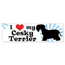 I Love My Cesky Terrier Bumper Bumper Sticker