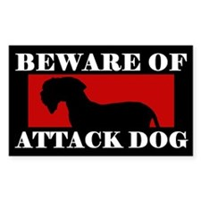 Beware of Attack Dog Cesky Terrier Decal