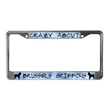 Crazy About Brussels Griffons License Plate Frame