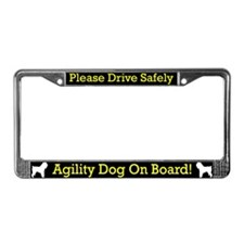 Brussels Griffon Agility Dog License Plate Frame