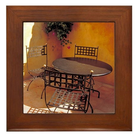 Framed Tile: <br>French courtyard