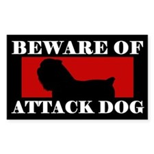 Beware of Attack Dog Brussels Griffon Decal