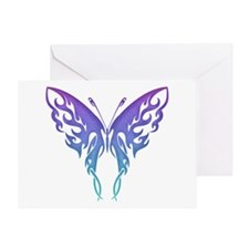 Butterfly Tat BluenGreen (91) Greeting Card