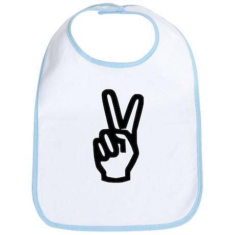 Peace Hand Bib