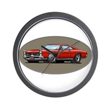 66-67 Red GTO Wall Clock