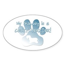Cesky Terrier Granddog Oval Decal