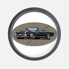 66-67 Black GTO Convertible Wall Clock