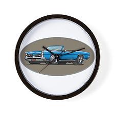 66-67 Blue GTO Convertible Wall Clock