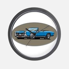 66-67 Blue GTO Convertible Wall Clock