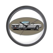 66-67 White / Silver GTO Convertible Wall Clock