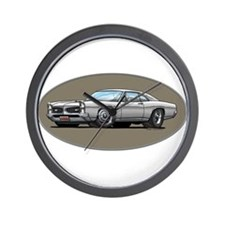 66-67 White / Silver GTO Wall Clock