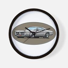 66-67 White / Silver GTO Wall Clock