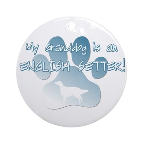 English Setter Granddog Ornament (Round)