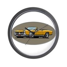 66-67 Gold GTO Convertible Wall Clock