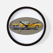 66-67 Gold GTO Convertible Wall Clock