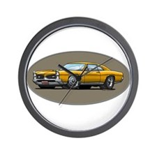 66-67 Gold GTO Wall Clock