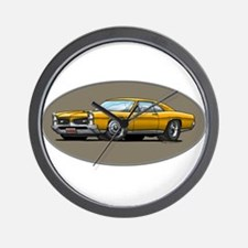 66-67 Gold GTO Wall Clock
