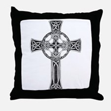 Classic Celtic Cross Throw Pillow